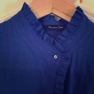 NWOT. Massimo Dutti Sleeveless Linen Shirt in M